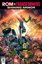 Image: Rom vs. Transformers: Shining Armor #5 (cover A - Milne) - IDW Publishing