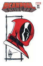 Image: Deadpool #1 (DFE signed remarked - Haeser) - Dynamic Forces