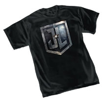 Image: Justice League T-Shirt: Shield  (L) - Graphitti Designs