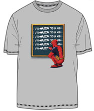 Image: Deadpool T-Shirt: Time Out [Silver]  (M) - Mighty Fine