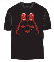 Image: Star Wars T-Shirt: Dark Side Helmet [Black]  (S) - Mighty Fine