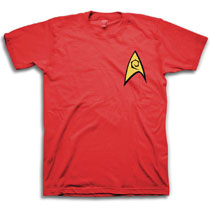 Image: Star Trek T-Shirt: Engineering [Red]  (M) - Freeze Cmi