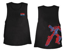 Image: Transformers T-Shirt: Muscle Tee [Black]  (XL) - The Forecast Agency