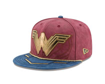 Image: Justice League 5950 Fitted Cap: Wonder Woman  (7 5/8) - New Era Cap Co