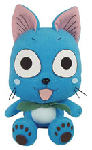 Image: Fairy Tail Plush: Happy Sitting Pose  (7-inch) - Great Eastern Entertainment