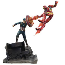 Image: Captain America vs. Iron Man Premium Motion Statue  - Factory Entertainment