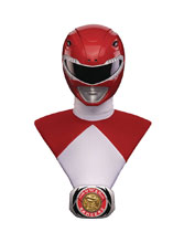 Image: Mighty Morphin Power Rangers Bust: Red Ranger  (1/1-scale) - Pop Culture Shock Collectibles