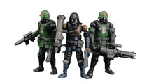 Image: Acid Rain B2Five K6 Jungle Soldier Action Figure Set  - Toynami Inc