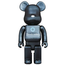 Image: I Am Other Bearbrick  (400) (Black version) - Medicom Toy Corporation