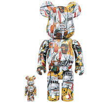 Image: Jean-Michel Basquiat Bearbrick  (100 & 400 2-Pack) - Medicom Toy Corporation