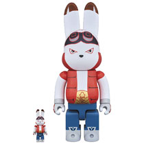 Image: King Kazuma Bearbrick: 100 & 400 2-Pack  - Medicom Toy Corporation