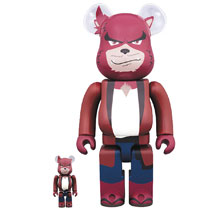 Image: Kumatetsu Bearbrick: 100 & 400 2-Pack  - Medicom Toy Corporation