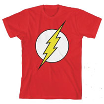 Image: DC Comics Flash Glow in the Dark Youth T-Shirt  (M) - Bioworld Merchandising