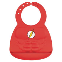 Image: DC Comics Superbib: The Flash Muscle Silicone  - Bumkins Finer Baby Products