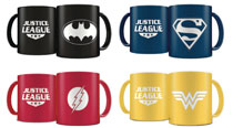 Image: DC Heroes Laser Etched Mug 4-Piece Deluxe Set  (Color) - Sd Toys (Dirac Dist Sl)