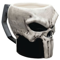 Image: Marvel Ceramic Sculpted Mug: Punisher  - Zak Designs