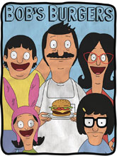 Image: Bob's Burgers Fleece Blanket  - Surreal Entertainment