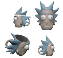 Image: Rick and Morty 3D Molded Mug: Rick  - Surreal Entertainment