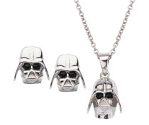 Image: Star Wars Pendant & Earrings Set: Darth Vader  - Sales One LLC