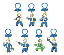 Image: Fallout 4 Figure Hangers 24-Piece Blind Mystery Box Display  - Ucc Distributing