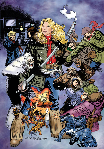 Wynonna Earp: The Yeti Wars. Art by Enrique Villagran.