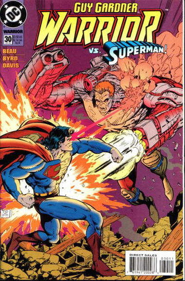 Guy Gardner Warrior Issue #30 vs. Superman