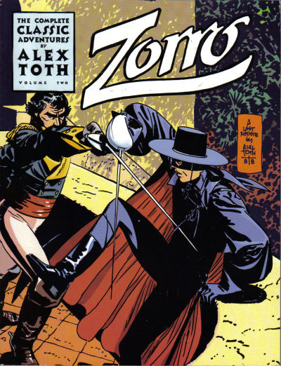 Zorro cover by Alex Toth. Eclipse collected edition