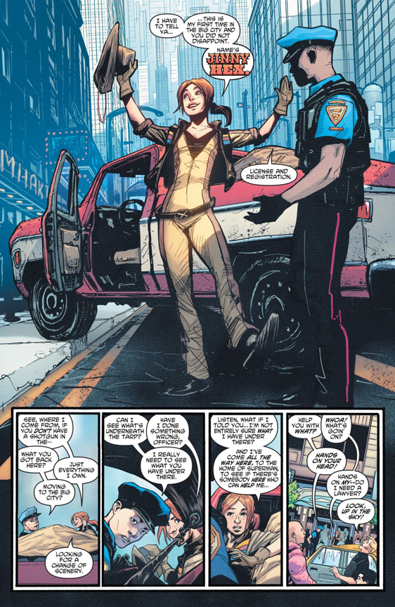Young Justice #1 preview page. Meet Jinny Hex!
