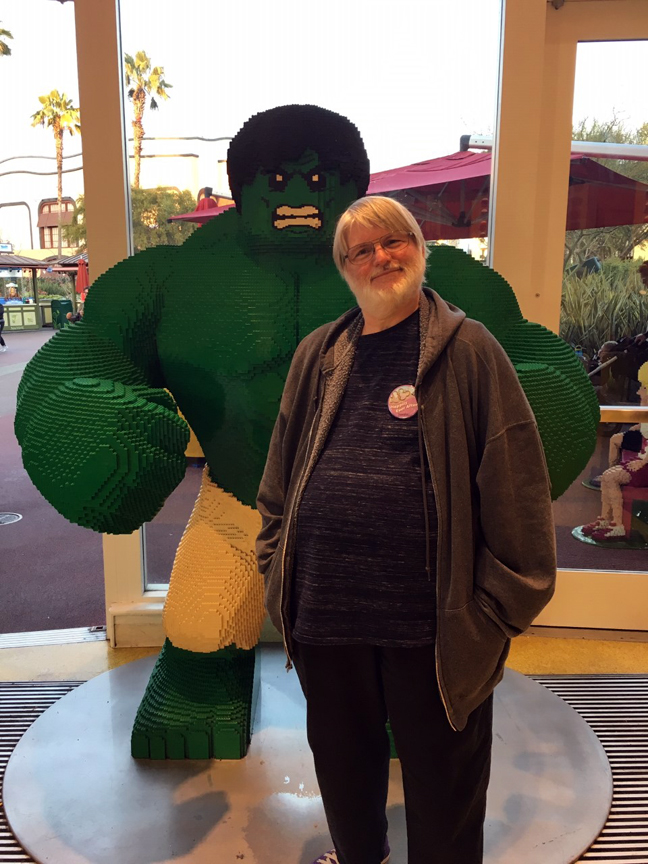KC Carlson celebrates Marvel Comics #1000 with a friend