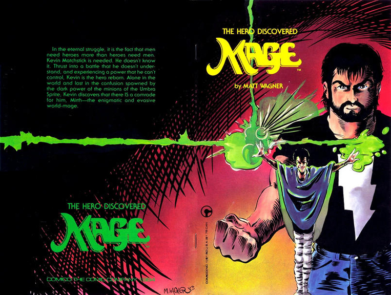 The cover to the first issue of Mage from 1984