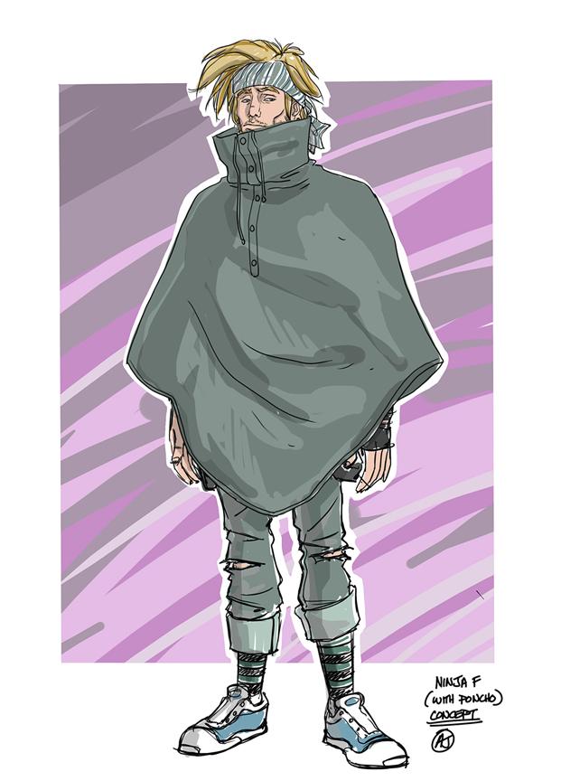 Ninja-F character design by AJ Jothikumar