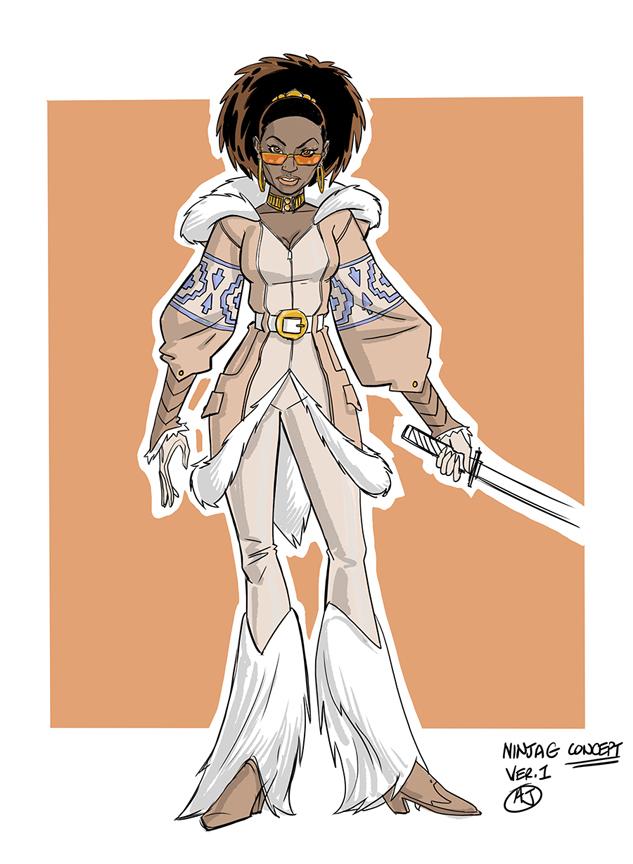 Ninja-G character design by AJ Jothikumar