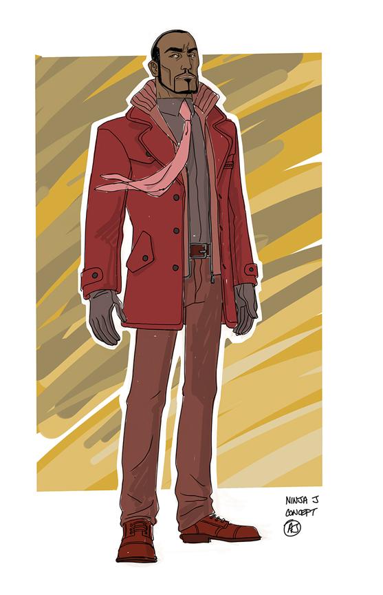 Ninja-J character design by AJ Jothikumar