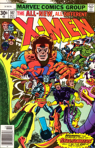 The Starjammers hit the big time in X-Men #107
