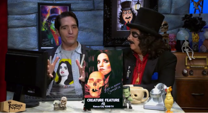 David Dastmalchian, Svengoolie, and Crematia Mortem (photo)