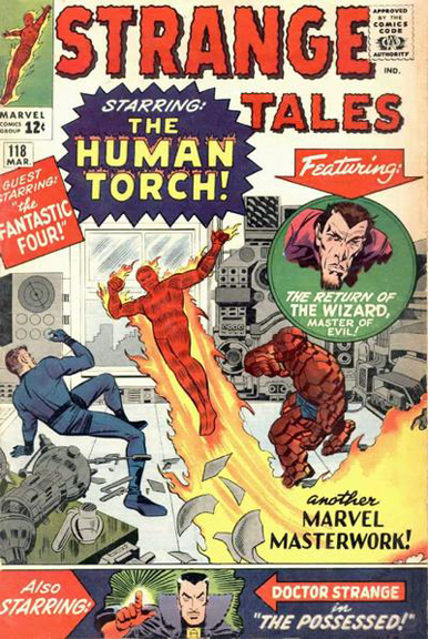 Strange Tales #118 Doc's first cover appearance