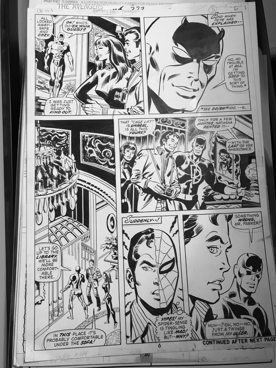 Daredevil Issue 103. Art by Bob Brown and Don Heck.