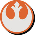 Image: Star Wars Chunky Magnet: Rebel Symbol  - Nmr Distribution America