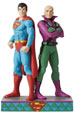 Image: Jim Shore DC Comics Figure: Superman & Lex Luthor  (8.88 Inches) - Enesco Corporation
