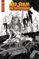 Image: Red Sonja: The Superpowers #2 (incentive 1:30 cover - Federici B&W) - Dynamite