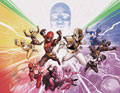 Image: Mighty Morphin Power Rangers #50 (variant foil wraparound cover - Jamal Campbell) - Boom! Studios