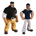 Image: One:12 Collective Deluxe Action Figure: Popeye & Bluto - Stormy Seas Ahead  - Mezco Toys