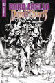 Image: Barbarella / Dejah Thoris #3 (incentive cover - Hsieh B&W) (40-copy) - Dynamite