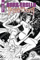 Image: Barbarella / Dejah Thoris #3 (incentive cover - Sanapo B&W) (50-copy) - Dynamite