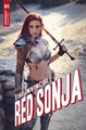 Image: Invincible Red Sonja #1 (cover E - Dominica Cosplay) - Dynamite