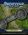 Image: Pathfinder Flip Mat: City Gates  -