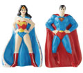 Image: DC Salt & Pepper Shaker: Superman and Wonder Woman  - Enesco Corporation