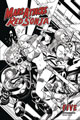 Image: Mars Attacks / Red Sonja #5 (incentive 1:10 cover - Kitson B&W)  [2020] - Dynamite