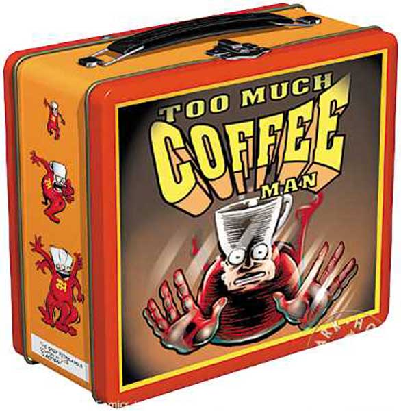 Image: Too Much Coffee Man Lunch Box  -