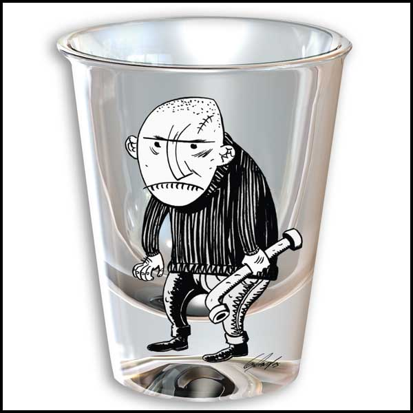 Image: Guy Davis Thugshots: Jimmy the Pipe  (shot glass) -